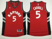 Wholesale Cheap Men's Toronto Raptors #5 DeMarre Carroll Revolution 30 Swingman Red Jersey