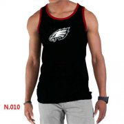 Wholesale Cheap Men's Nike NFL Philadelphia Eagles Sideline Legend Authentic Logo Tank Top Black_2