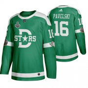 Wholesale Cheap Adidas Dallas Stars #16 Joe Pavelski Men's Green 2020 Stanley Cup Final Stitched Classic Retro NHL Jersey