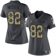 Wholesale Cheap Nike Raiders #82 Jason Witten Black Women's Stitched NFL Limited 2016 Salute to Service Jersey