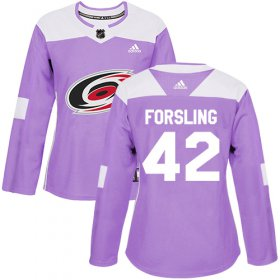 Wholesale Adidas Hurricanes #33 Scott Darling White Road Authentic Women\'s Stitched NHL Jersey