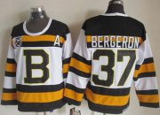 Wholesale Cheap Bruins #37 Patrice Bergeron White CCM Throwback 75TH Stitched NHL Jersey