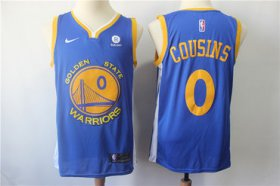 Wholesale Cheap Men\'s Nike Golden StateWarriors #0 DeMarcus Cousins Royal Nike Swingman Jersey