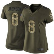 Wholesale Cheap Nike Ravens #8 Lamar Jackson Green Women's Stitched NFL Limited 2015 Salute to Service Jersey