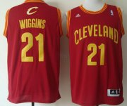 Wholesale Cheap Cleveland Cavaliers #21 Andrew Wiggins Revolution 30 Swingman Red Jersey
