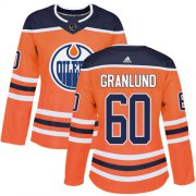 Wholesale Cheap Adidas Oilers #60 Markus Granlund Orange Home Authentic Women's Stitched NHL Jersey