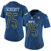 Wholesale Cheap Nike Redskins #75 Brandon Scherff Navy Women's Stitched NFL Limited NFC 2017 Pro Bowl Jersey