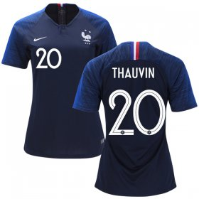 Wholesale Cheap Women\'s France #20 Thauvin Home Soccer Country Jersey