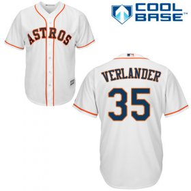 Wholesale Cheap Astros #35 Justin Verlander White Cool Base Stitched Youth MLB Jersey