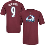 Wholesale Cheap Colorado Avalanche #9 Matt Duchene Reebok Name & Number T-Shirt Burgundy