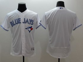 Wholesale Cheap Blue Jays Blank White Flexbase Authentic Collection Stitched MLB Jersey