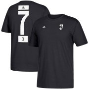 Wholesale Cheap Juventus #7 Cristiano Ronaldo adidas Go-To Name & Number T-Shirt Black