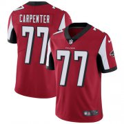 Wholesale Cheap Nike Falcons #77 James Carpenter Red Team Color Men's Stitched NFL Vapor Untouchable Limited Jersey