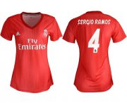 Wholesale Cheap Women's Real Madrid #4 Sergio Ramos Third Soccer Club Jersey