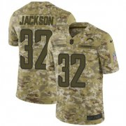 Wholesale Cheap Nike Chargers #32 Justin Jackson Camo Men's Stitched NFL Limited 2018 Salute To Service Jersey