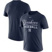 Wholesale Cheap New York Yankees Nike Wordmark Practice Performance T-Shirt Navy