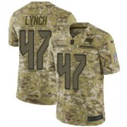 Wholesale Cheap Nike Buccaneers #47 John Lynch Camo Youth Stitched NFL Limited 2018 Salute to Service Jersey