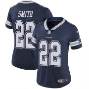 Wholesale Cheap Nike Cowboys #22 Emmitt Smith Navy Blue Team Color Women's Stitched NFL Vapor Untouchable Limited Jersey
