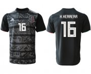 Wholesale Cheap Mexico #16 H.Herrera Black Soccer Country Jersey