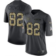 Wholesale Cheap Nike Jets #82 Jamison Crowder Black Men's Stitched NFL Limited 2016 Salute to Service Jersey