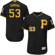 Wholesale Cheap Pirates #53 Melky Cabrera Black Flexbase Authentic Collection Stitched MLB Jersey