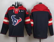 Wholesale Cheap Nike Texans Blank Navy Blue Player Pullover NFL Hoodie