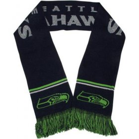 Wholesale Cheap Seattle Seahawks Ladies Metallic Thread Scarf Blue