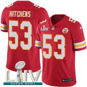 Wholesale Cheap Nike Chiefs #53 Anthony Hitchens Red Super Bowl LIV 2020 Team Color Youth Stitched NFL Vapor Untouchable Limited Jersey