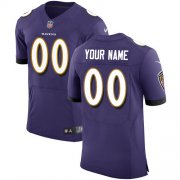 Wholesale Cheap Nike Baltimore Ravens Customized Purple Team Color Stitched Vapor Untouchable Elite Men's NFL Jersey