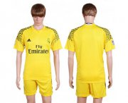 Wholesale Cheap Real Madrid Blank Yellow Goalkeeper Soccer Club Jersey