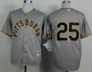 Wholesale Cheap Pirates #25 Gregory Polanco Grey 1953 Turn Back The Clock Stitched MLB Jersey