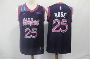 Wholesale Cheap Minnesota Timberwolves 25 Derrick Rose Nike Purple 2019 Swingman City Edition Jersey