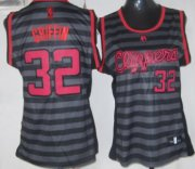 Wholesale Cheap Los Angeles Clippers #32 Blake Griffin Gray With Black Pinstripe Womens Jersey
