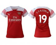 Wholesale Cheap Women's Arsenal #19 S.Cazorla Home Soccer Club Jersey