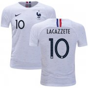 Wholesale Cheap France #10 Lacazzete Away Kid Soccer Country Jersey