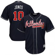 Wholesale Cheap Braves #10 Chipper Jones Navy Blue Cool Base Stitched Youth MLB Jersey