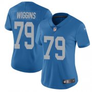 Wholesale Cheap Nike Lions #79 Kenny Wiggins Blue Throwback Women's Stitched NFL Vapor Untouchable Limited Jersey