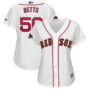 Wholesale Cheap Boston Red Sox #50 Mookie Betts Majestic Women's 2019 Gold Program Cool Base Player Jersey White