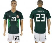 Wholesale Cheap Mexico #23 Montes Green Home Soccer Country Jersey