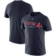 Wholesale Cheap Boston Red Sox Nike MLB Team Logo Practice T-Shirt Navy