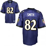 Wholesale Cheap Ravens #82 Torrey Smith Purple Stitched NFL Jersey