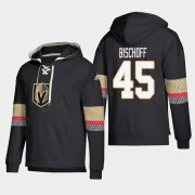 Wholesale Cheap Vegas Golden Knights #45 Jake Bischoff Black adidas Lace-Up Pullover Hoodie