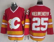 Wholesale Cheap Flames #25 Joe Nieuwendyk Red CCM Throwback Stitched NHL Jersey