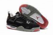 Wholesale Cheap Womens Air Jordan 4 Shoes Black/Wine red