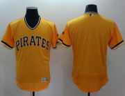 Wholesale Cheap Pirates Blank Gold Flexbase Authentic Collection Stitched MLB Jersey
