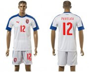 Wholesale Cheap Czech #12 Pavelka Away Soccer Country Jersey
