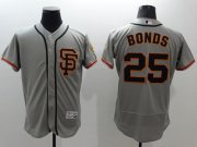 Wholesale Cheap Giants #25 Barry Bonds Grey Flexbase Authentic Collection Road 2 Stitched MLB Jersey