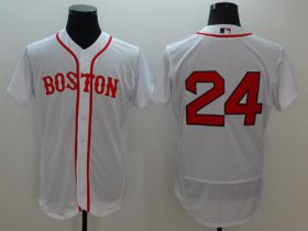 Wholesale Cheap Red Sox #24 David Price White Flexbase Authentic Collection Alternate Home Stitched MLB Jersey