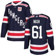 Wholesale Cheap Adidas Rangers #61 Rick Nash Navy Blue Authentic 2018 Winter Classic Stitched Youth NHL Jersey