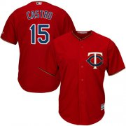 Wholesale Cheap Twins #15 Jason Castro Red Cool Base Stitched Youth MLB Jersey